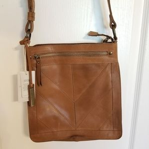 NWT Genuine Leather Lucky Brand Crossbody Bag